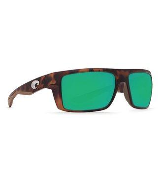 Costa Del Mar Motu Matte Retro Tort 580G Green Mirror Lens Sunglasses