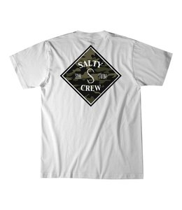 Salty Crew Tippet Camo White Tee