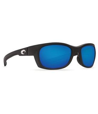 Costa Del Mar Trevally Gloss Black 580G Blue Mirror Lens Sunglasses