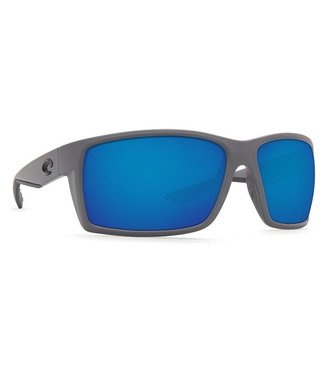 Costa Del Mar Reefton Matte Gray 580G Blue Mirror Sunglasses