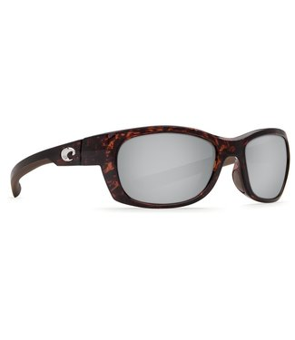 Costa Del Mar Trevally Shiny Tort 580P Silver Mirror Lens Sunglasses