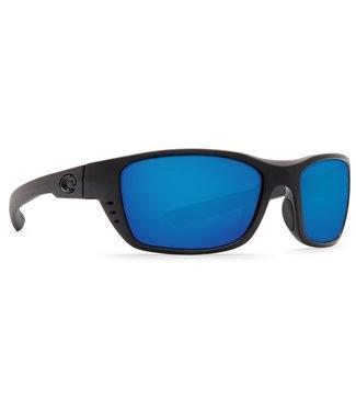 Costa Del Mar Whitetip Blackout 580G Blue Mirror Lens Sunglasses