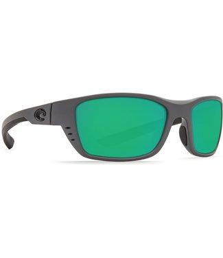 Costa Del Mar Whitetip Matte Grey 580P Green Mirror Lens Sunglasses