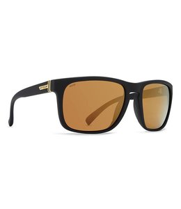 Vonzipper Lomax Black Gloss Wild Gold Flash Lens Polarized