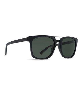 Vonzipper Plimpton Black Gloss Wild Vintage Grey Polar Lens Sunglasses
