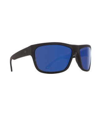 Spy Optics Angler Soft Matte Black Dark Blue Spectra Lens Polarized