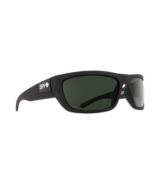 Spy Optics Dega Soft Matte Black Happy Grey Green Lens Polarized
