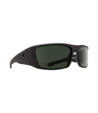 Spy Optic Dirk Soft Matte Black Grey Green Lens Polarized