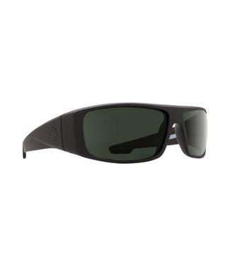 Spy Optic Logan Soft Matte Black Grey Green Lens Polarized