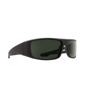 Spy Optics Logan Soft Matte Black Grey Green Lens Polarized