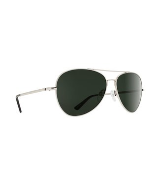 Spy Optics Whistler Silver Gloss Happy Grey Green Lens Polarized