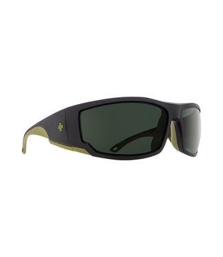Spy Optics Tackle Matte Black Olive Happy Grey Green Polarized