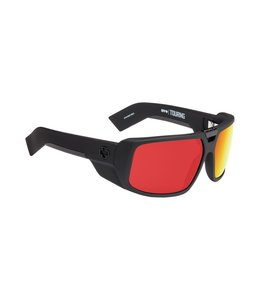 Spy Optics Touring Soft Matte Black Happy Grey Red Spectra