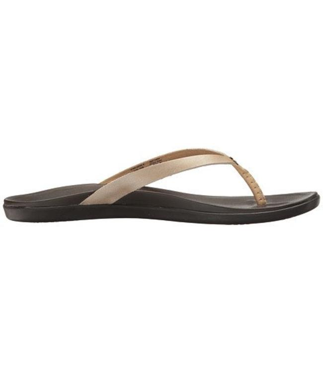 Olukai Ho'Opio Leather Bubbly Sandals