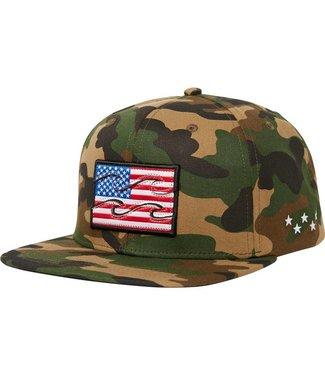 Billabong Native USA Camo Snapback Hat