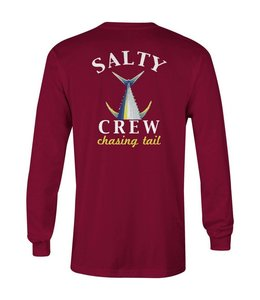 Salty Crew Chasing Tail Burgundy Long Sleeve Tee