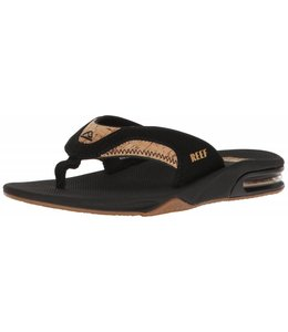 Reef Fanning Leather Black and Cork Sandals