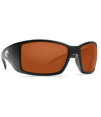 Costa Del Mar Blackfin Matte Black 580G Copper Lens Sunglasses