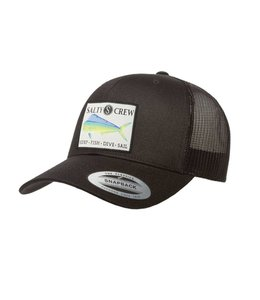 Salty Crew Mahi Retro Black Trucker Hat
