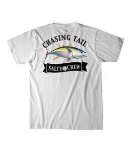 Salty Crew Sickle Fin White Short Sleeve Tee