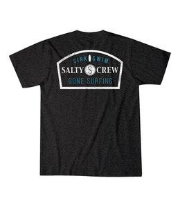 Salty Crew Gone Surfing Black Heather Pocket Tee