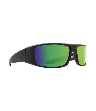Spy Optic Logan Matte Black Happy Bronze Green Spectra Polarized