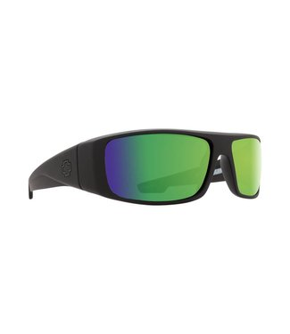Spy Optics Logan Matte Black Happy Bronze Green Spectra Polarized