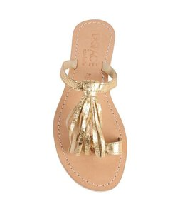 L*SPACE by Cocobelle Fringe Gold Sandal