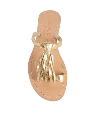 L Space by Cocobelle Fringe Gold Sandal