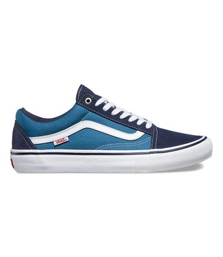 Vans Old Skool Pro Navy and White Skate Shoes