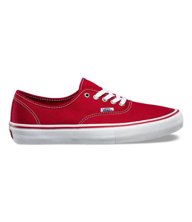 Vans Authentic Pro Scarlet and White Skate Shoes