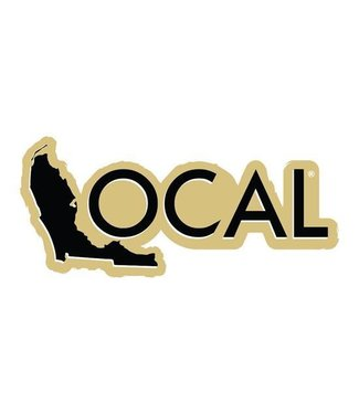 "The Local Brand 8"" Black/Gold Vinyl Decal"