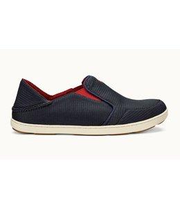 Olukai Nohea Mesh Carbon Deep Red Shoes