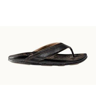 Olukai Hiapo Black Sandals