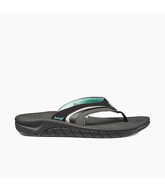 Reef Slap 3 Black and Aqua Sandals