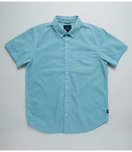 Roark Revival Well Worn Oxford Short Sleeve Light Blue Shirt