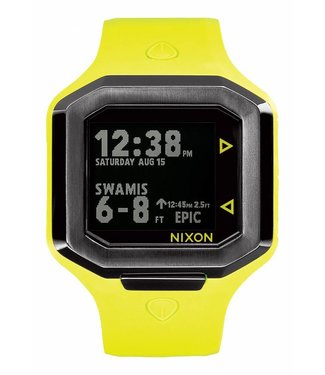 Nixon Ultratide Neon Yellow Gunmetal 45mm Watch
