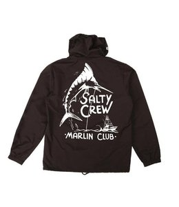 Salty Crew Marlin Club Black Snap Jacket