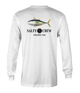 Salty Crew Ahi Fish White Tech L/S Shirt