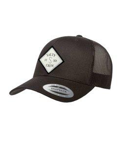 Salty Crew Tippet Retro Black Trucker Hat