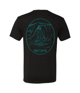 Surf Bum Vintage Black & Teal Short Sleeve Tee