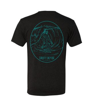 Drift House Drift House Surf Bum Vintage Black & Teal Short Sleeve Tee