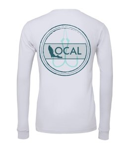 The Local Brand Florida Fishing White Long Sleeve Tech Shirt
