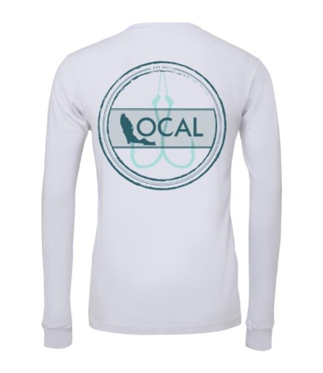 The Local Brand Florida Fishing White Long Sleeve Tech Shirt