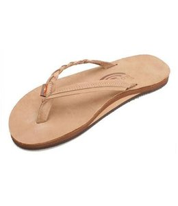 Rainbow Flirty Braidy Sierra Single Layer Leather Sandals