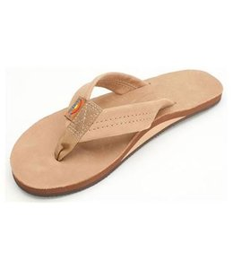 Rainbow Sierra Brown Single Layer Premium Leather Sandals