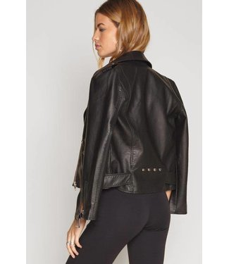 Amuse Society Blackhawk Vegan Leather Jacket