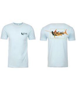 The Local Brand Fade Fish Ice Blue Short Sleeve Tee