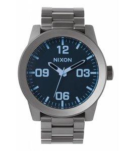 Nixon Corporal SS Gunmetal / Blue Crystal Watch