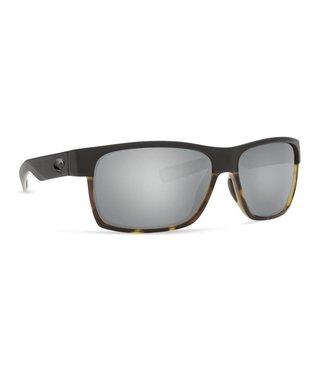 Costa Del Mar Half Moon Matte Black and Tort 580G Silver Lens Sunglasses